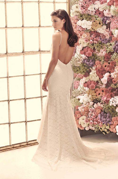 Open Back Lace Wedding Dress - Style #1911 | Mikaella Bridal