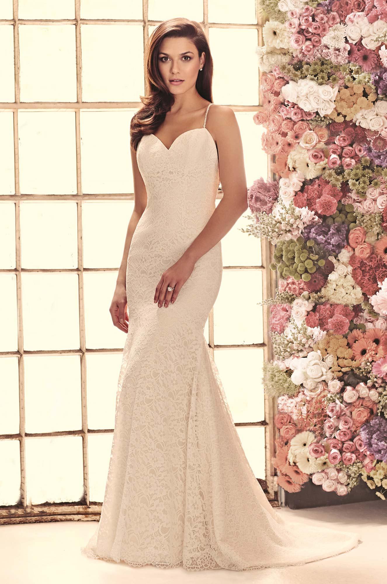 Open back lace wedding dress style 1911 mikaella bridal junglespirit Image collections