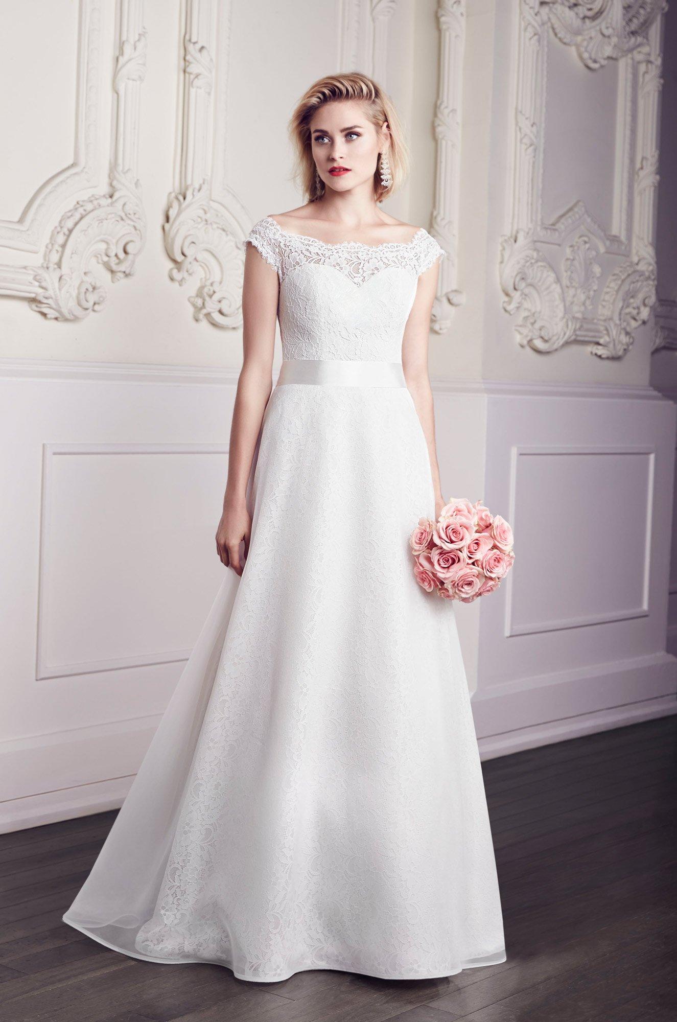 Organza Overlay Wedding Dress - Style #1959 | Mikaella Bridal