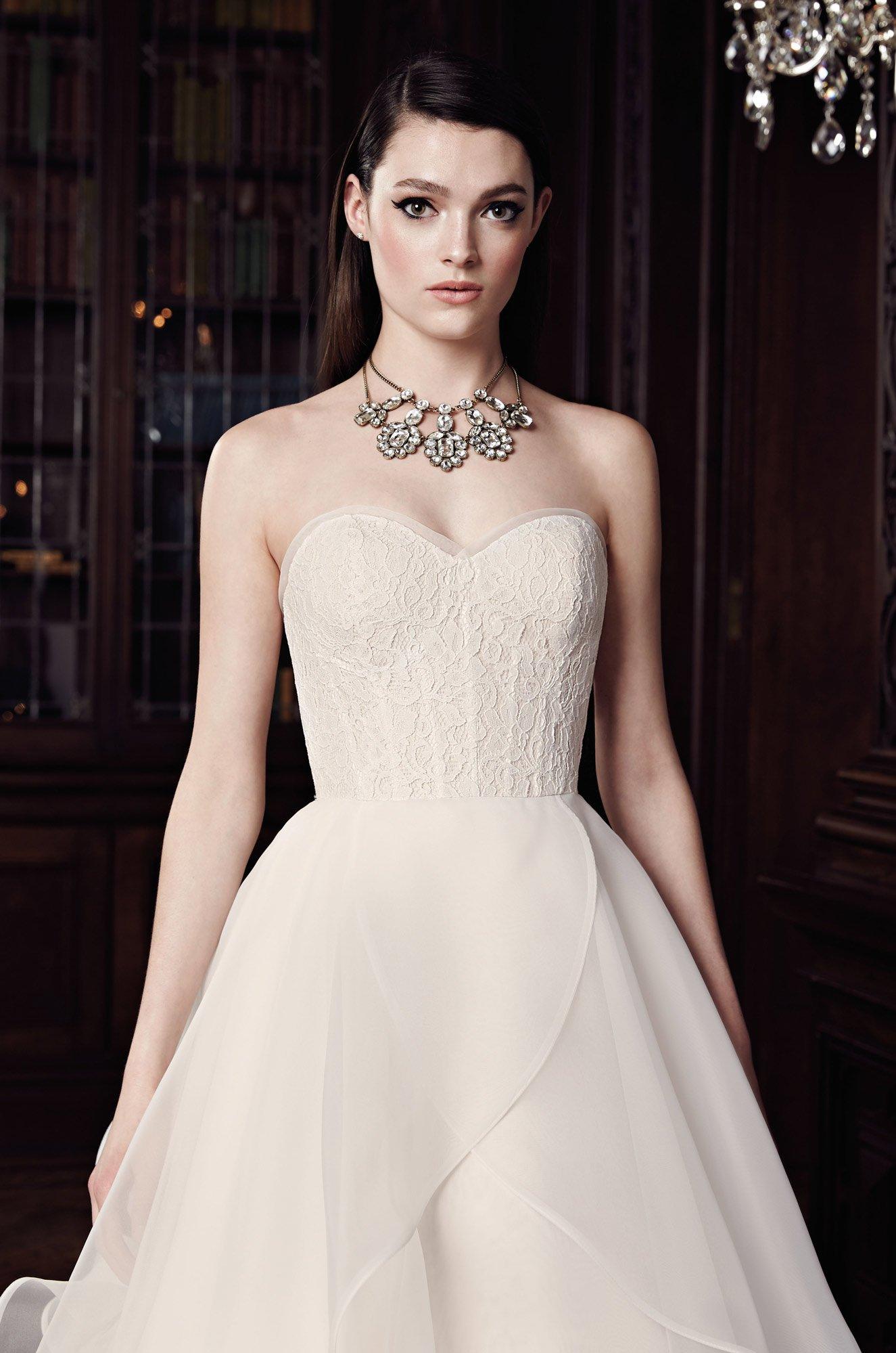 Strapless Ball Gown Wedding Dress - Style #2003   Mikaella Bridal