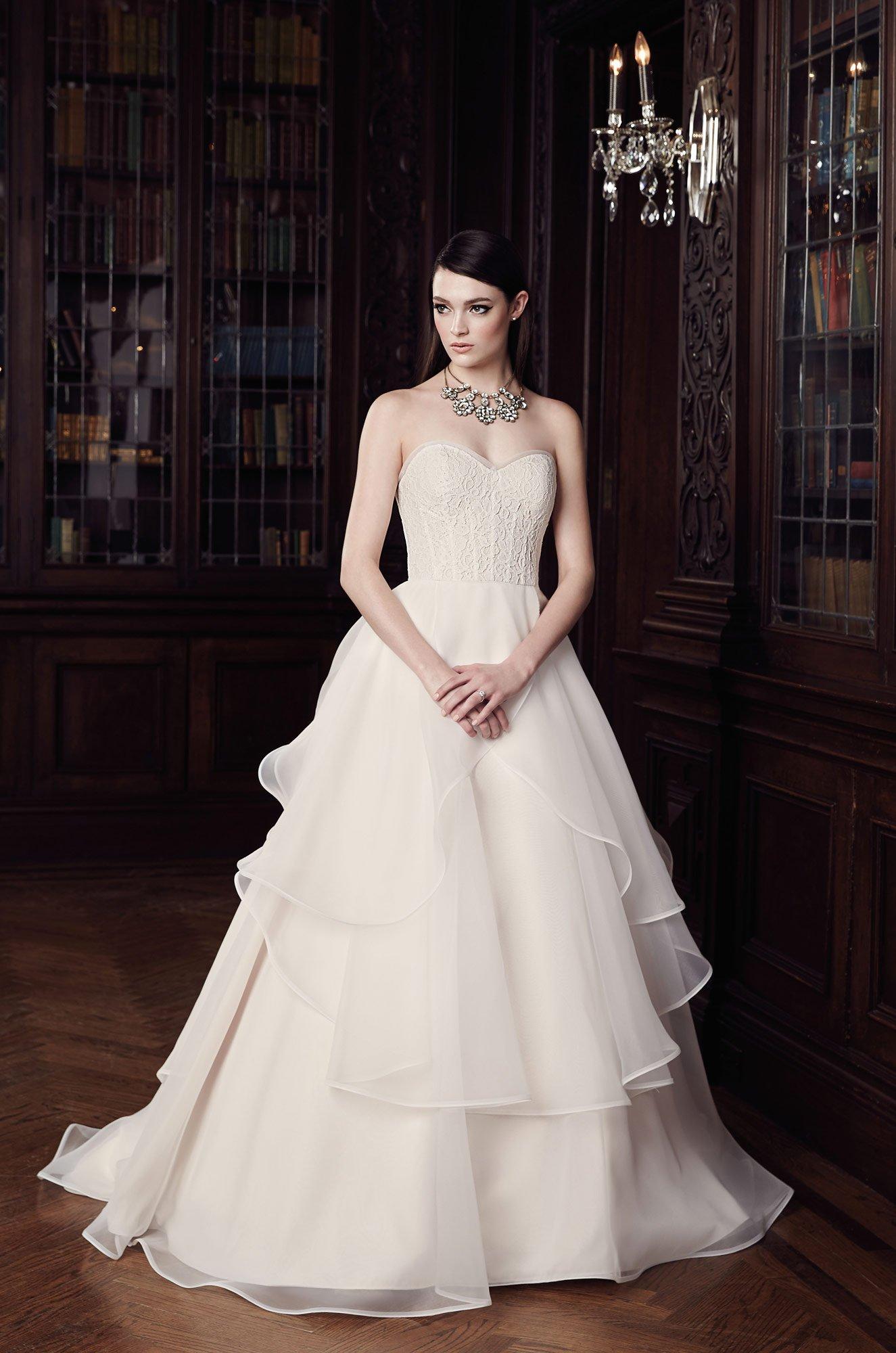 Strapless Ball Gown Wedding Dress - Style #2003 | Mikaella Bridal