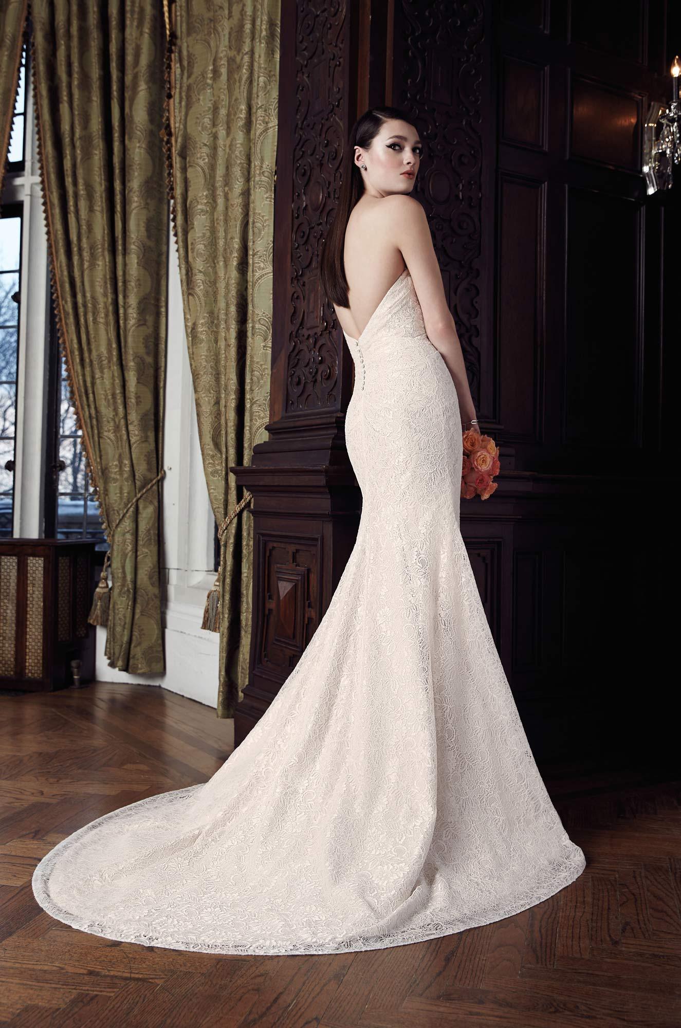 Ruched Lace Wedding Dress Style 2017 Mikaella Bridal