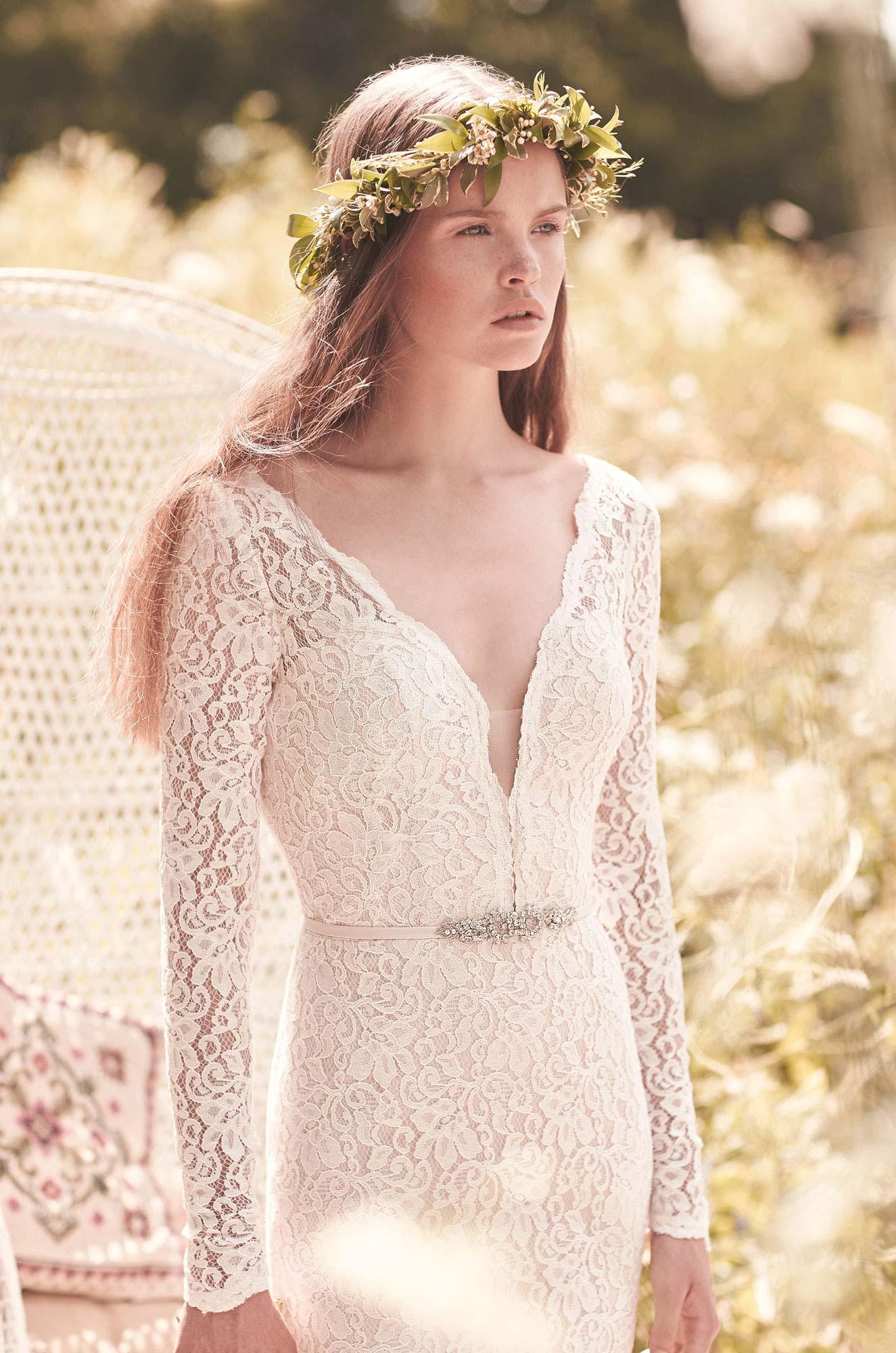 Long Sleeve Wedding Dress - Style #2050 | Mikaella Bridal