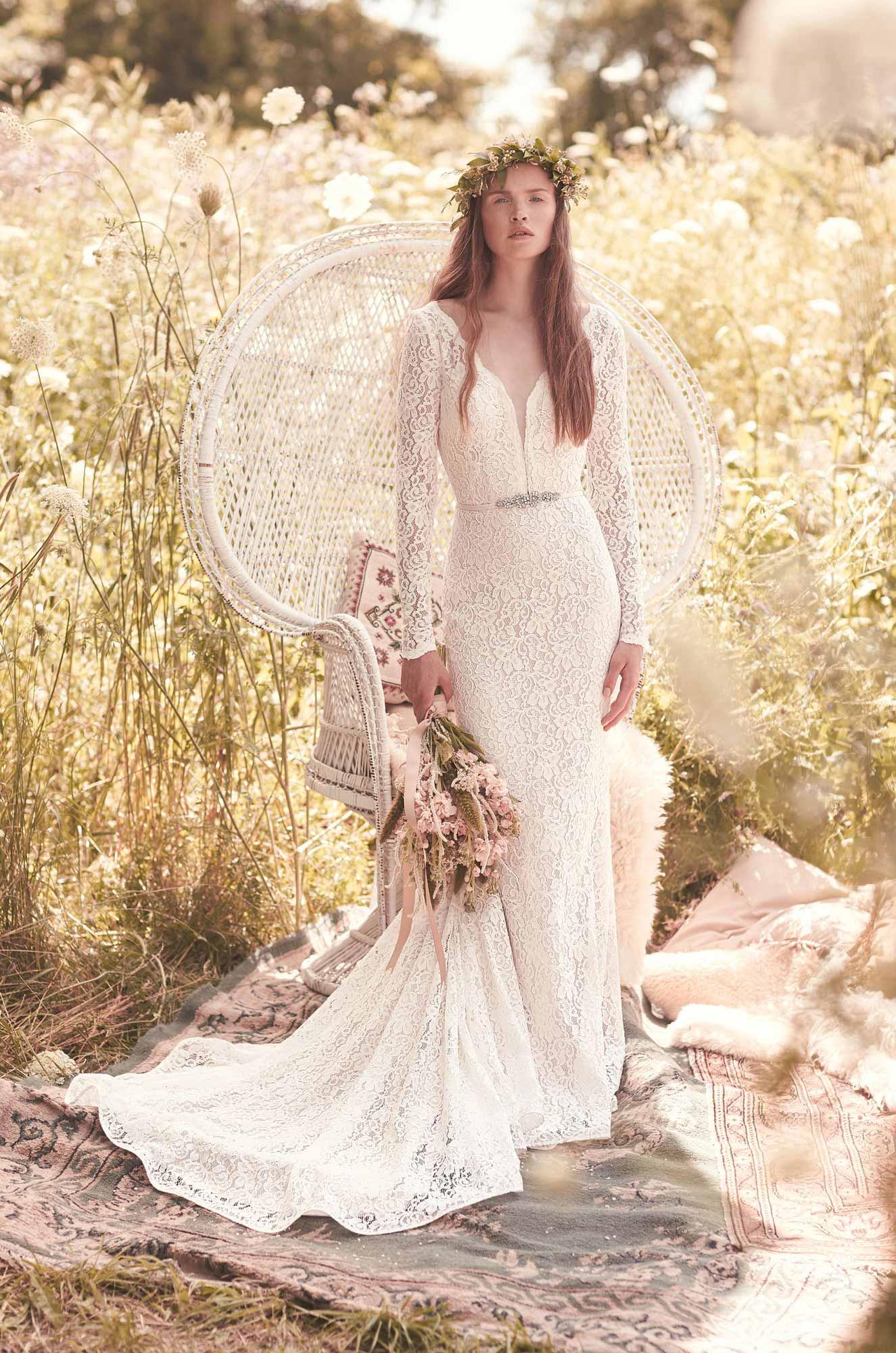 Long Sleeve Wedding Dress Style 2050 Mikaella Bridal