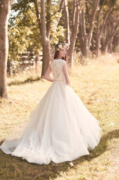 Full Tulle Skirt Wedding Dress - Style #2068 | Mikaella Bridal
