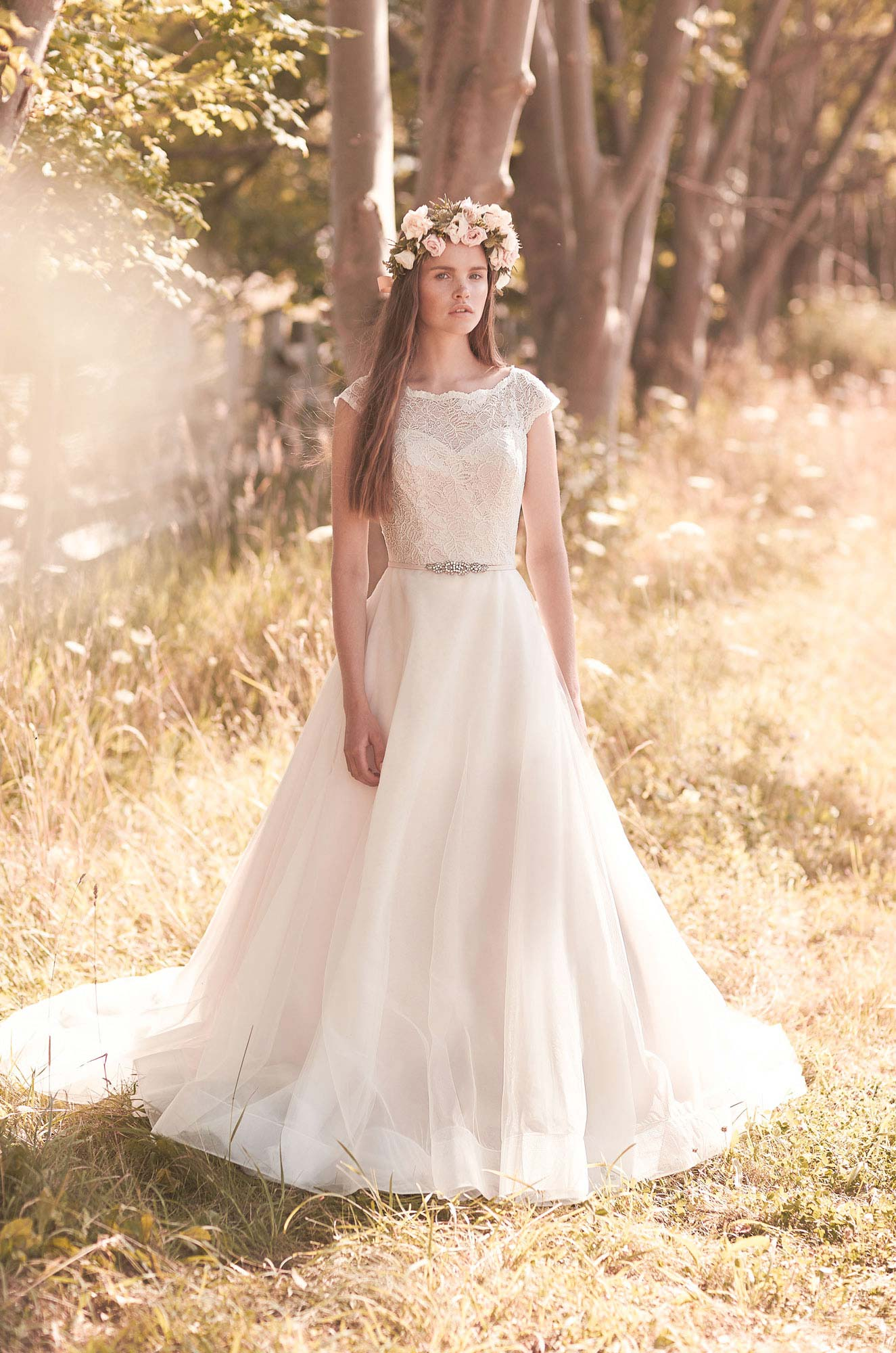 Full Tulle Skirt Wedding Dress - Style #2068 | Mikaella Bridal