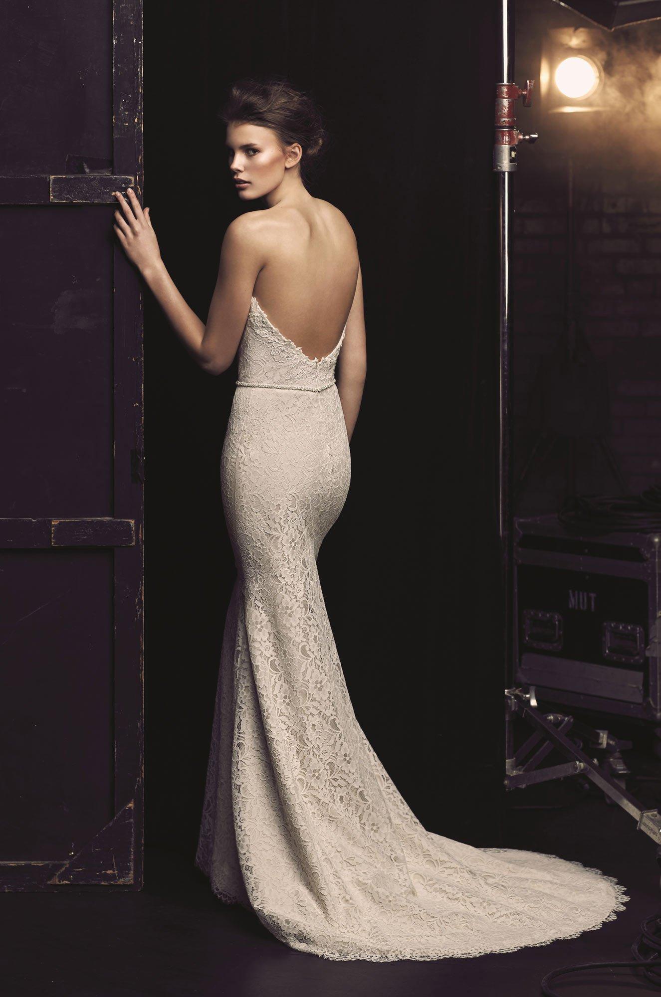 Plunging Neckline Wedding Dress - Style #2077 | Mikaella Bridal