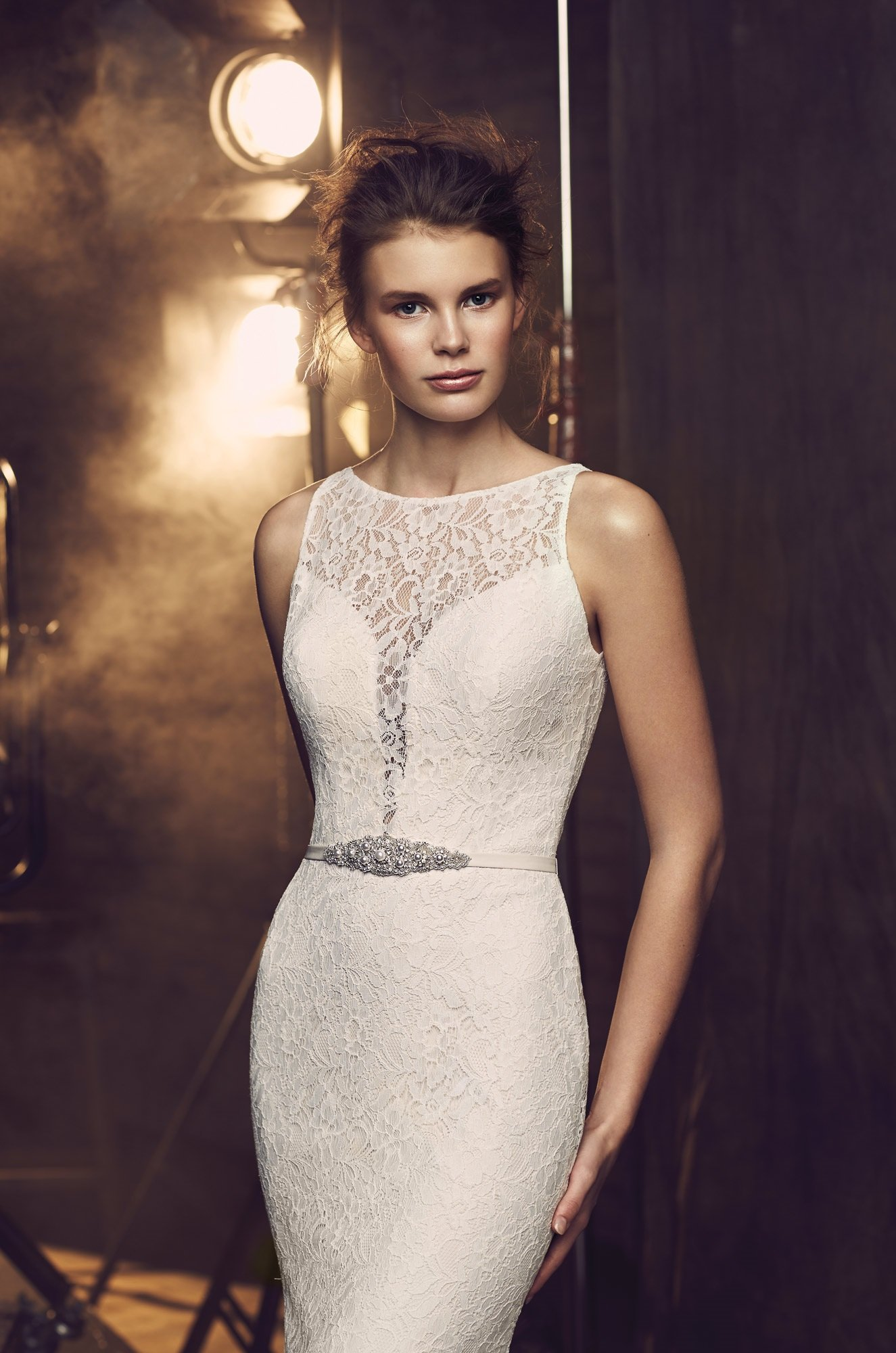 Fitted Lace Wedding Dress - Style #2078 | Mikaella Bridal