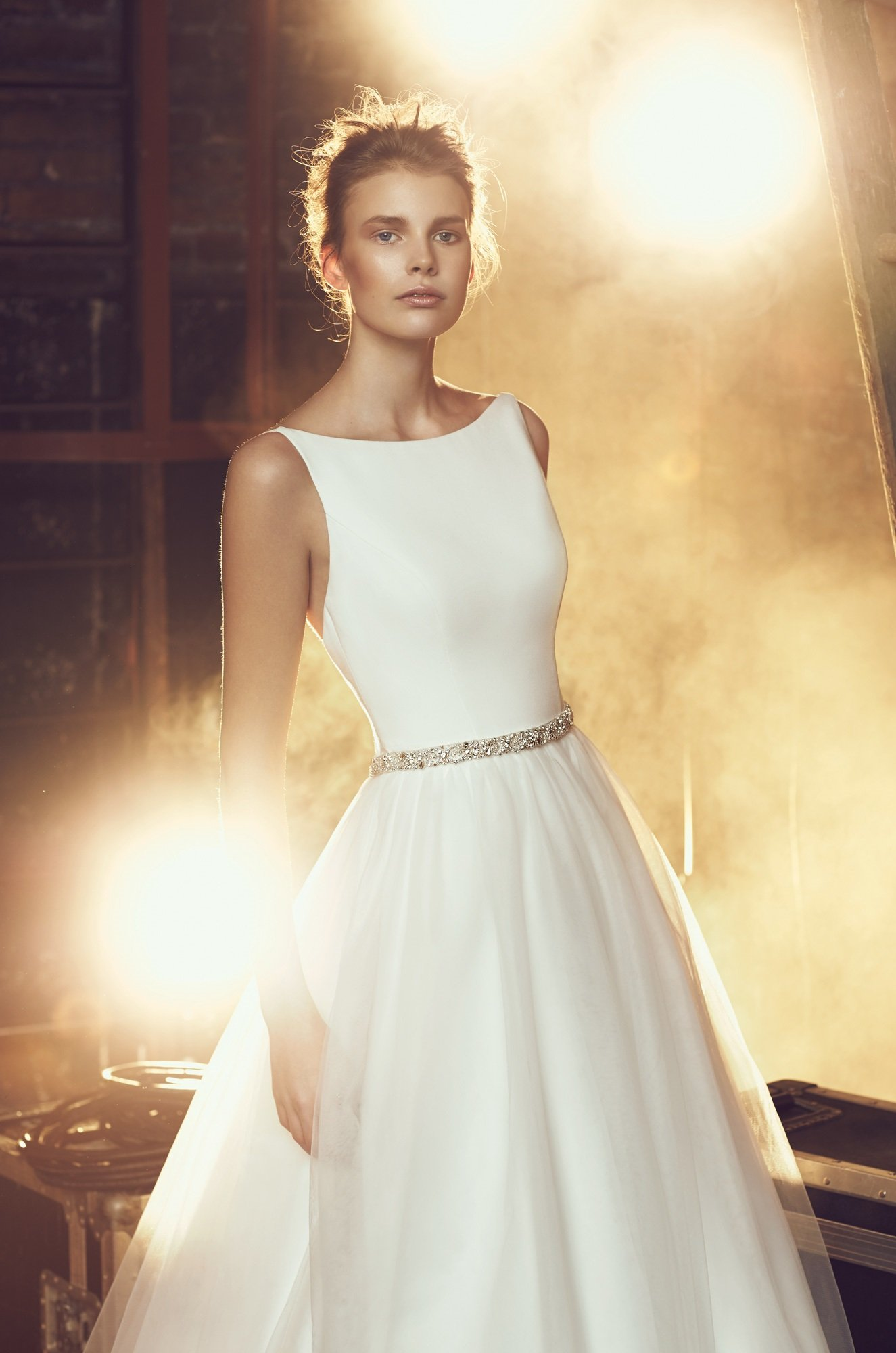 Tulle skirt wedding dress style 2079 mikaella bridal for Wedding dresses with tulle