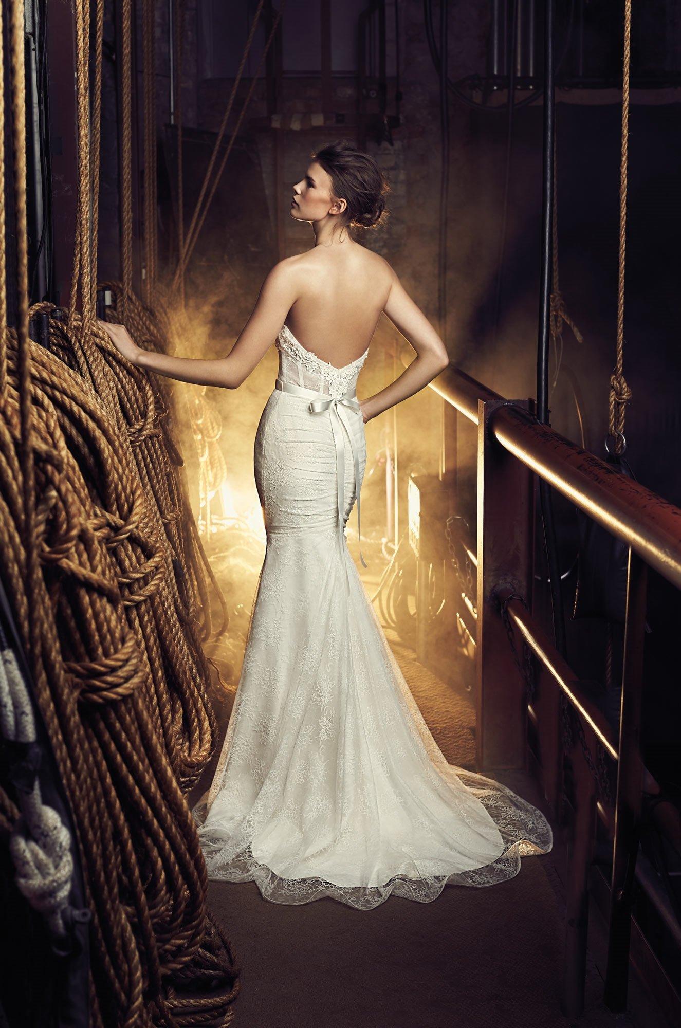 Sheer Bodice Wedding Dress - Style #2080 | Mikaella Bridal