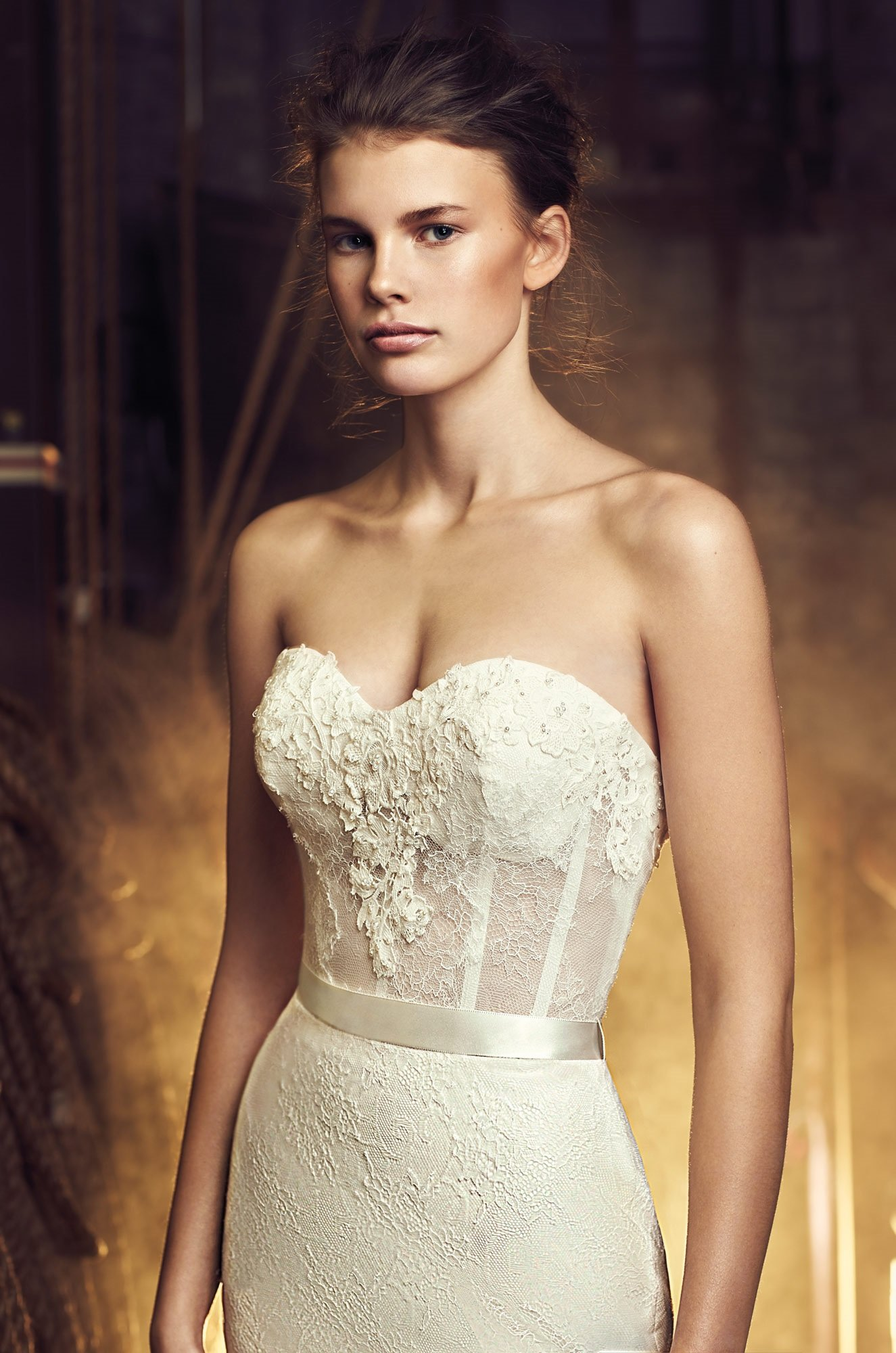 Open back wedding dress style 2083 mikaella bridal for Sheer bodice wedding dress
