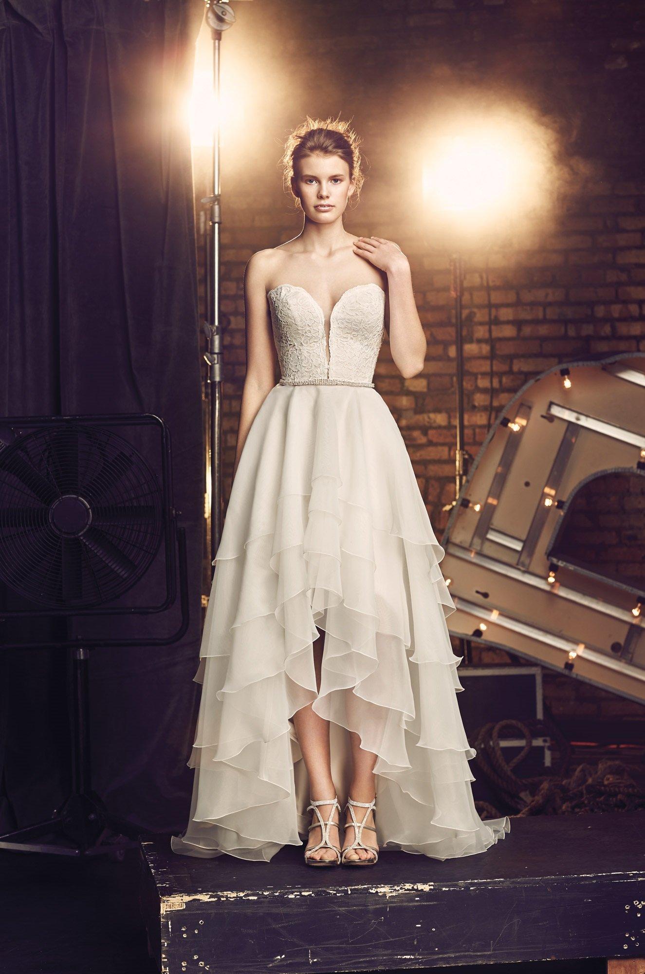 High Low Wedding Dress - Style #2084 | Mikaella Bridal