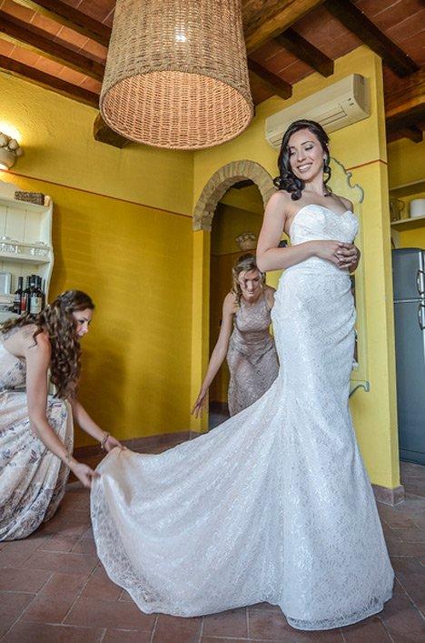 Real Bride Tuscany Italy - Megan & Nicholas | Mikaella Bridal