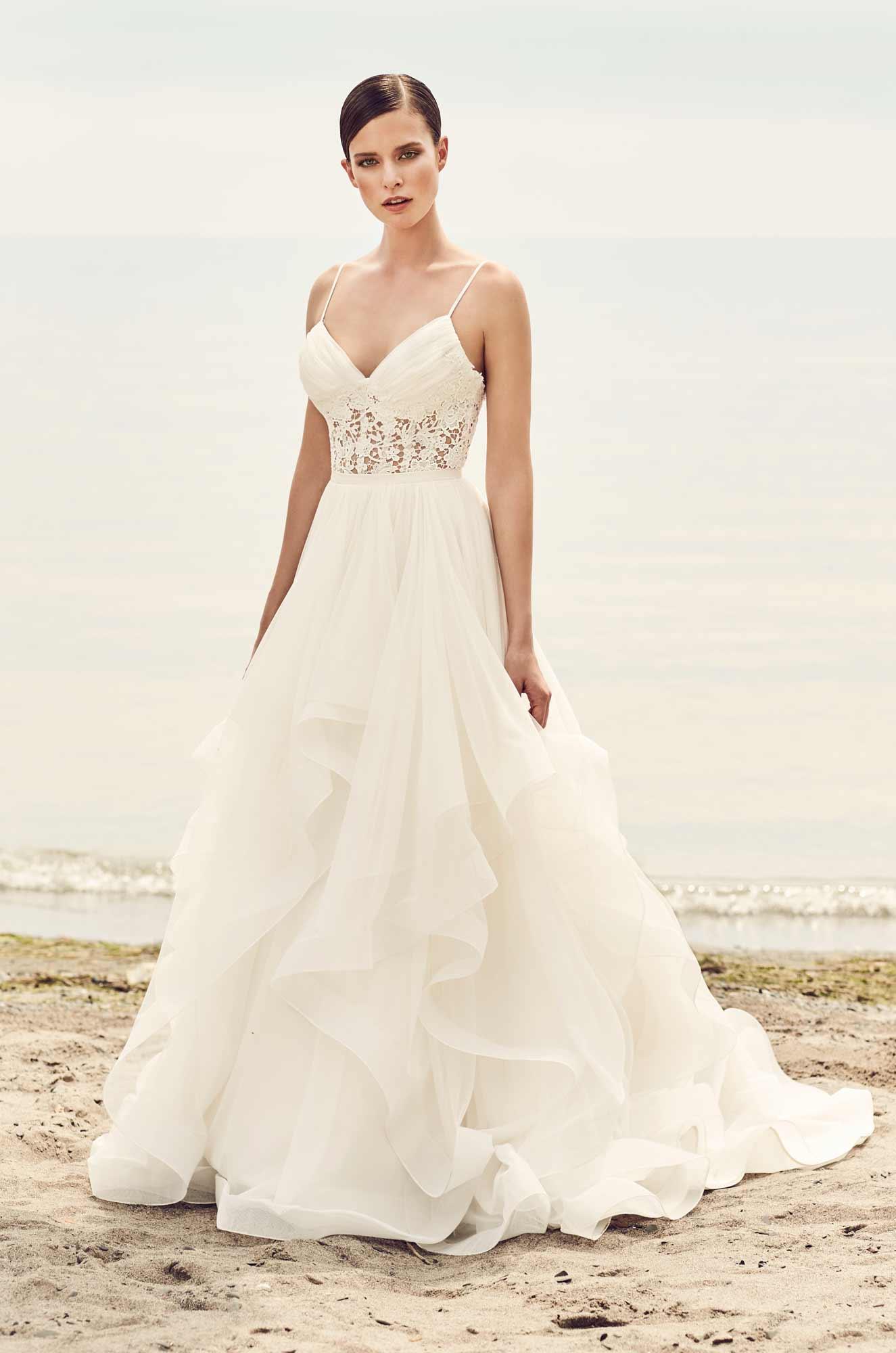Whimsical Tulle Skirt Wedding Dress - Style #2101 | Mikaella Bridal