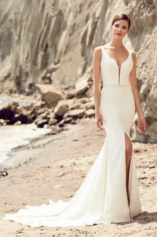 Skirt Slit Wedding Dress - Style #2107 | Mikaella Bridal