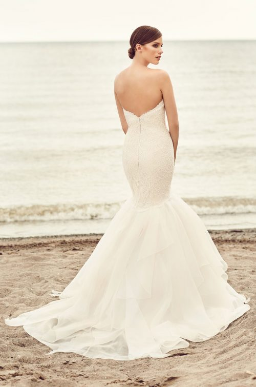 Organza Trumpet Skirt Wedding Dress - Style #2109 | Mikaella Bridal