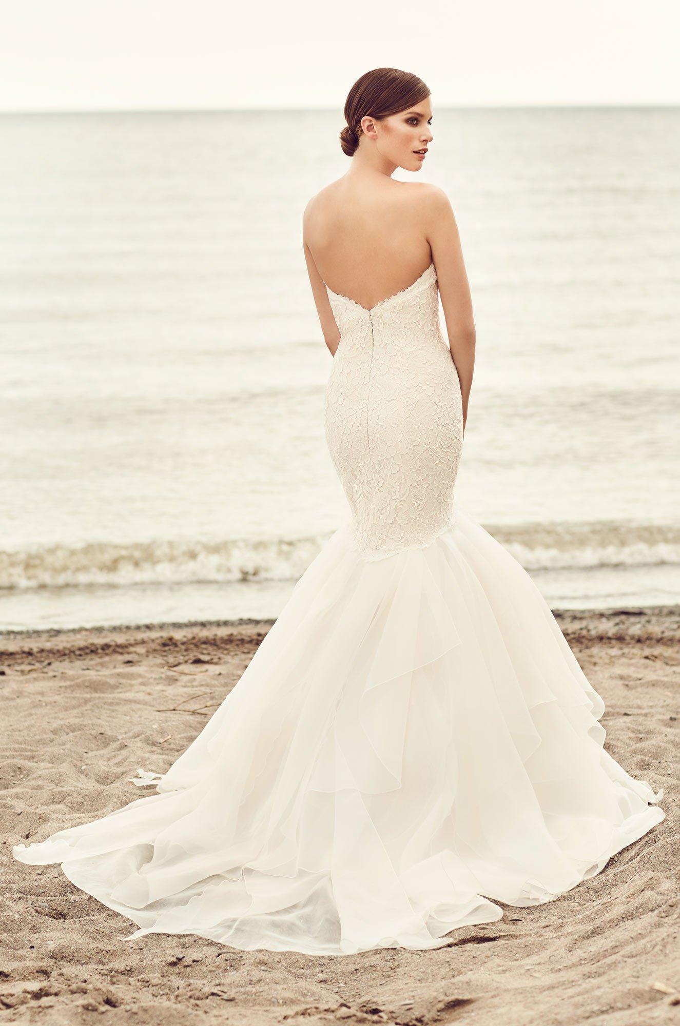 Organza trumpet skirt wedding dress style 2109 for Organza trumpet wedding dress