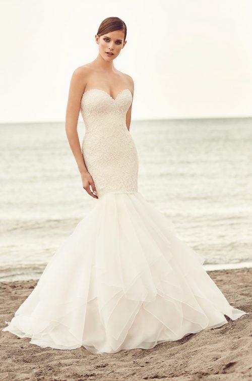 Organza Trumpet Skirt Wedding Dress - Style #2109 | Mikaella Bridal