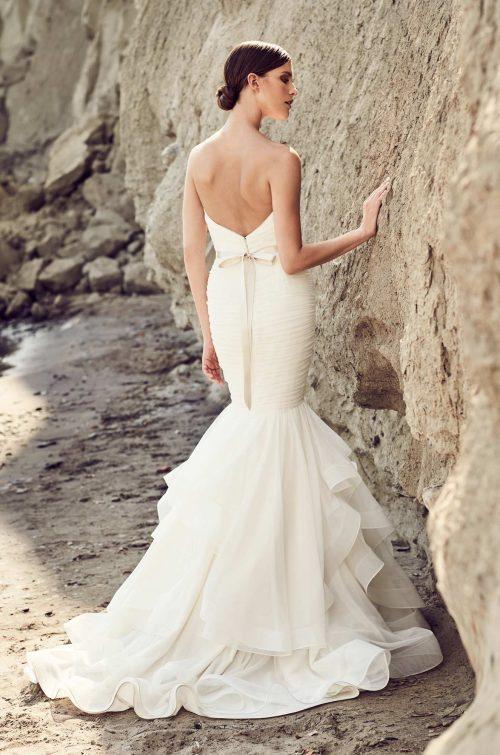 Ruffled Mermaid Tulle Wedding Dress - Style #2111 | Mikaella Bridal