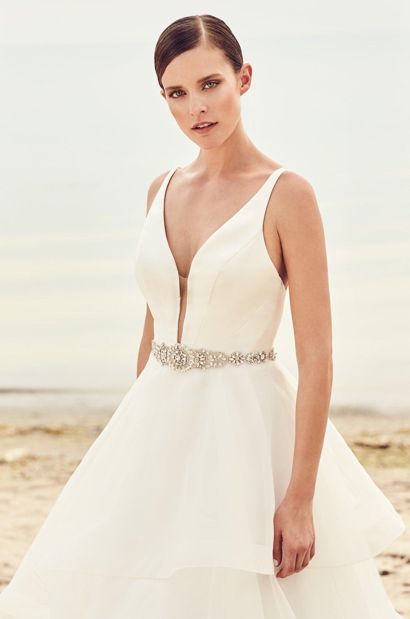 Tiered Organza Skirt Wedding Dress - Style #2112 | Mikaella Bridal