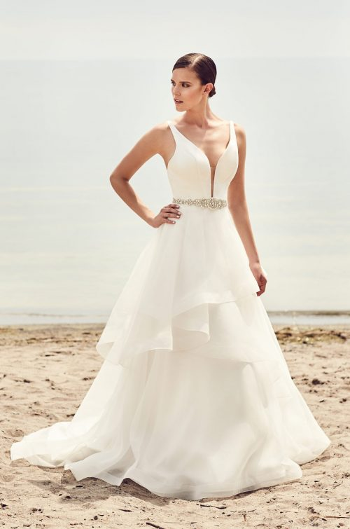 Fitted Cr 234 Pe Wedding Dress Style 2090 Mikaella Bridal