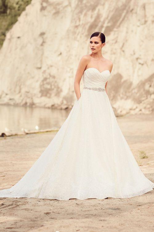 Elegant Full Lace Wedding Dress - Style #2113 | Mikaella Bridal