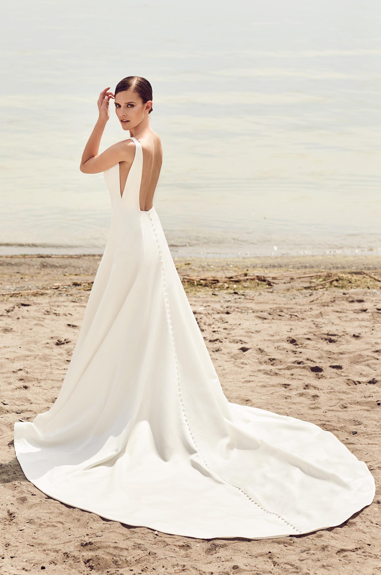 Sleek modern wedding dress style 2115 mikaella bridal for In style wedding dresses