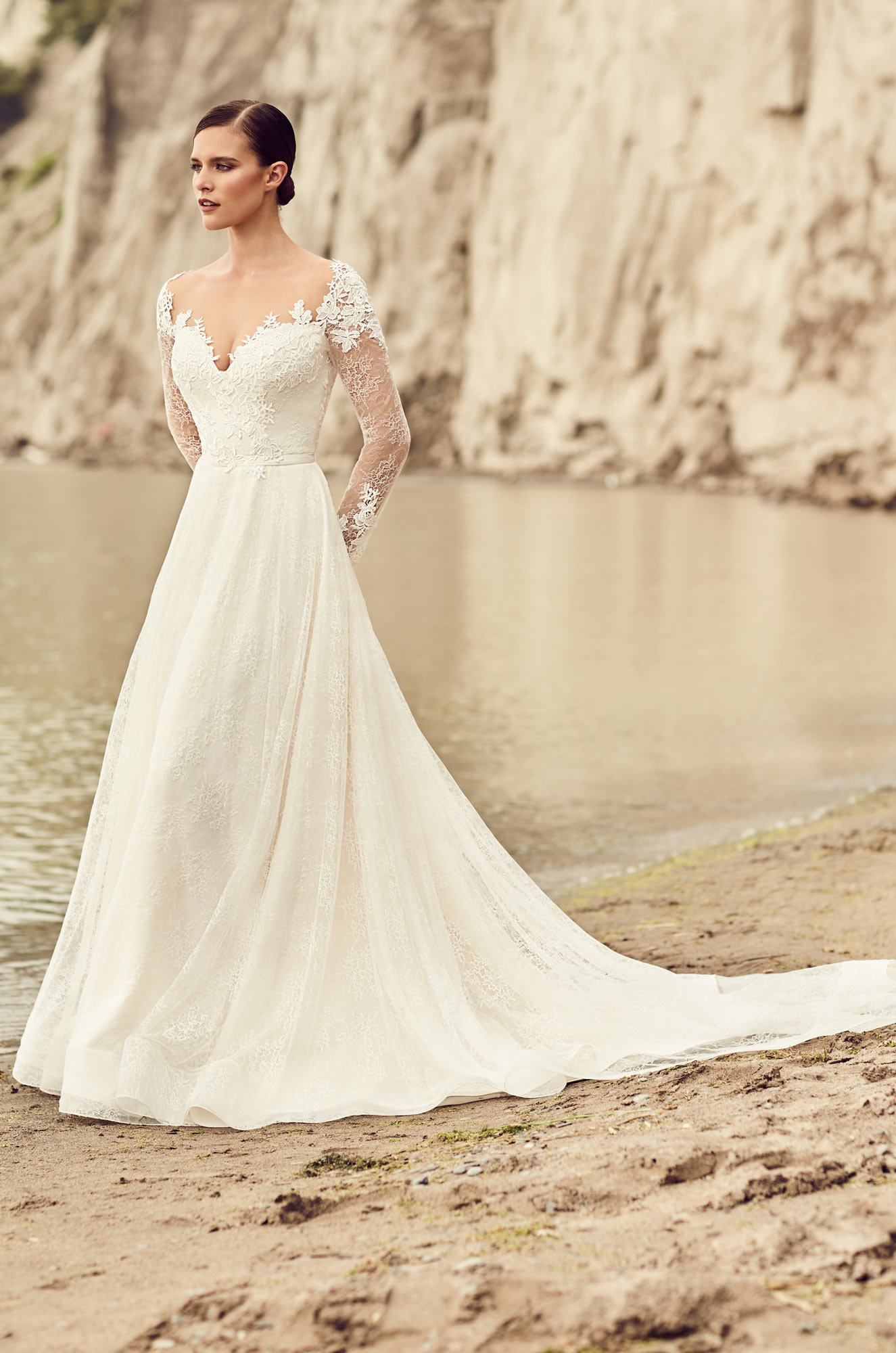 Embroidered long sleeve wedding dress style 2118 for Best wedding dresses with sleeves