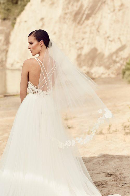 Two Tier Guipure Lace Veil - Style #VM471F | Mikaella Bridal