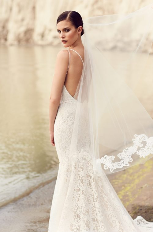 Mikaella Lace Applique Veil - Style #VM473F   Mikaella Bridal