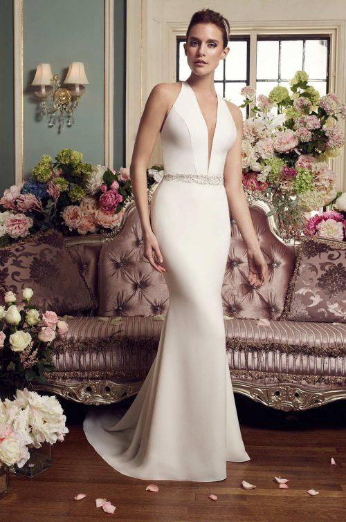 Halter Top Wedding Dress - Style #2150 | Mikaella Bridal