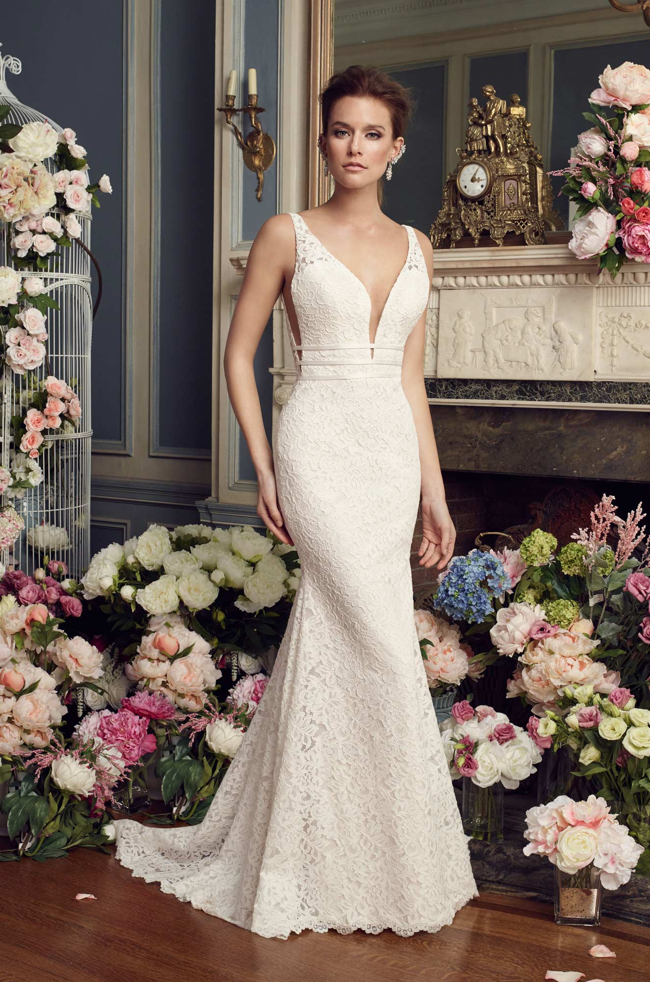 Dramatic Lace Wedding Dress - Style #2154 | Mikaella Bridal