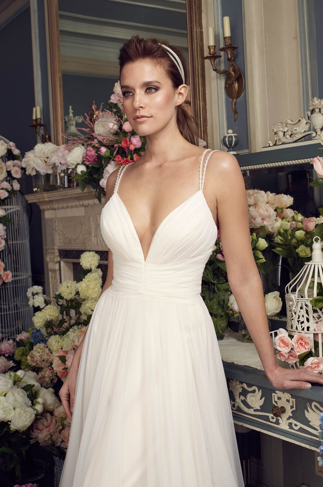 Gathered Tulle Wedding Dress - Style #2155 | Mikaella Bridal