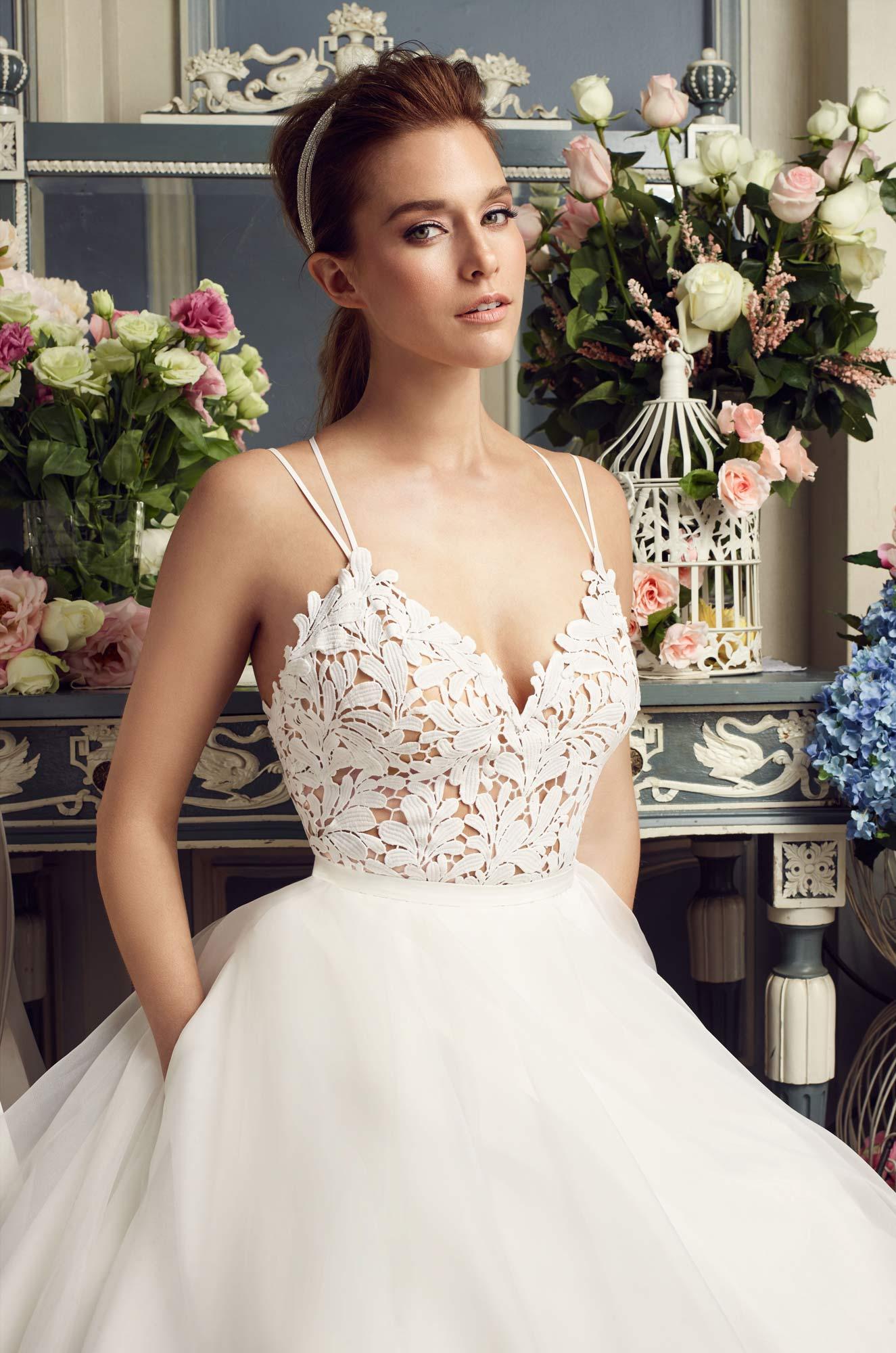 Skirt Pocket Wedding Dress - Style #2158 | Mikaella Bridal