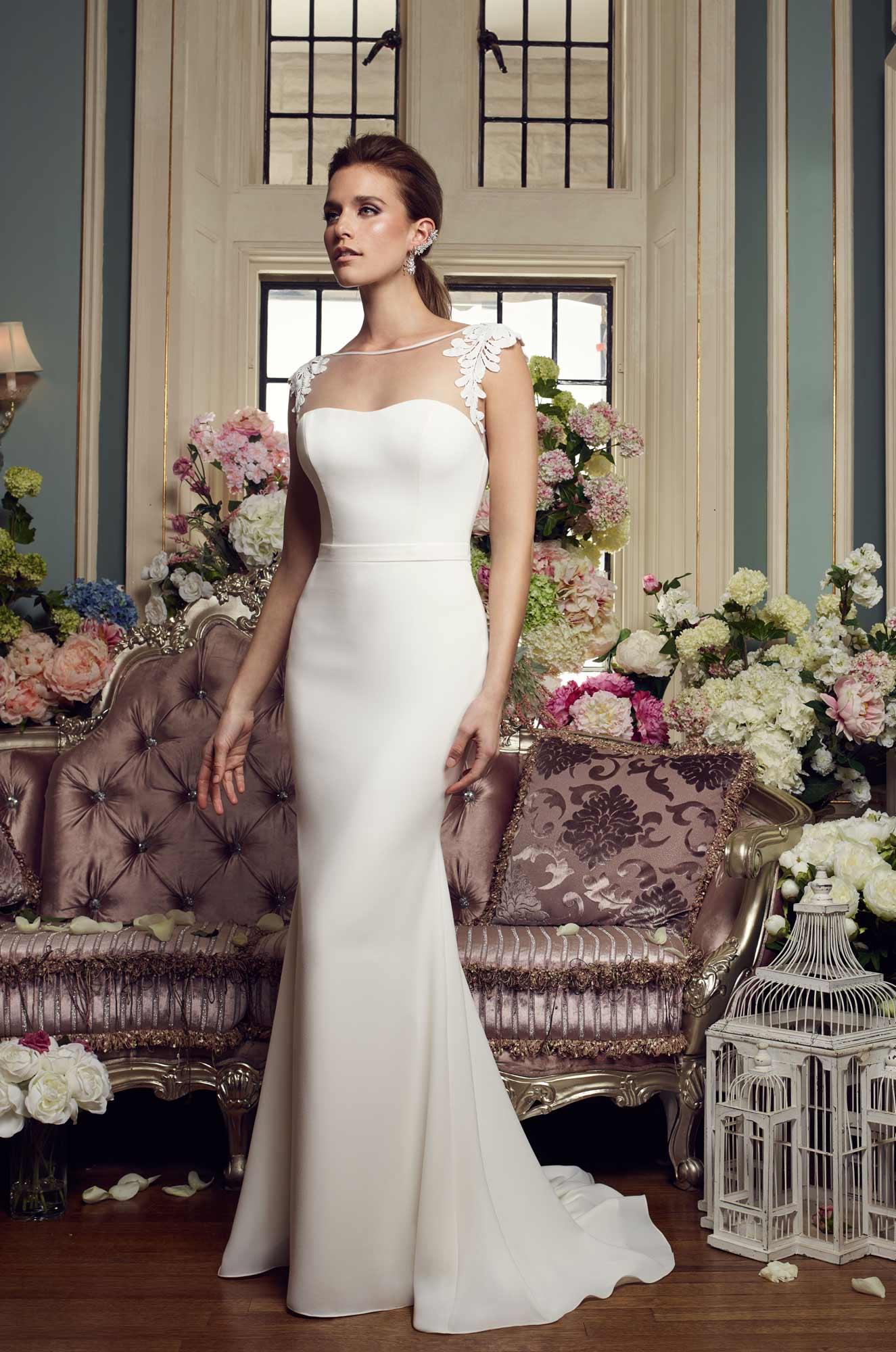 Detachable Train Wedding Dress - Style #2160 | Mikaella Bridal