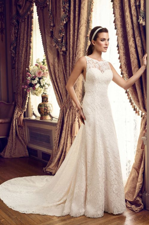Chic Lace Wedding Dress - Style #2161 | Mikaella Bridal