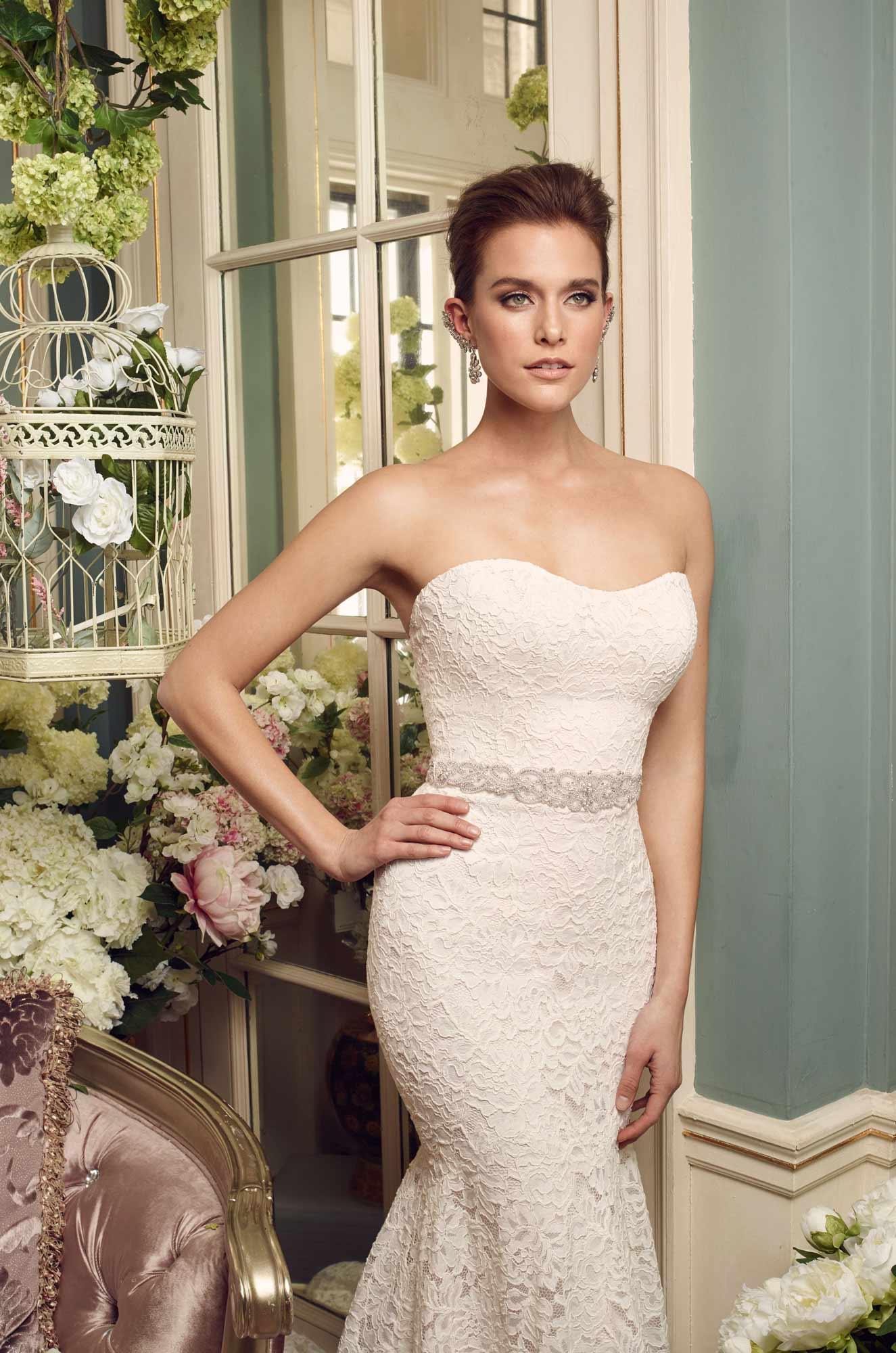 Lace wedding dress style 2165 mikaella bridal strapless lace wedding dress style 2165 mikaella bridal junglespirit Gallery
