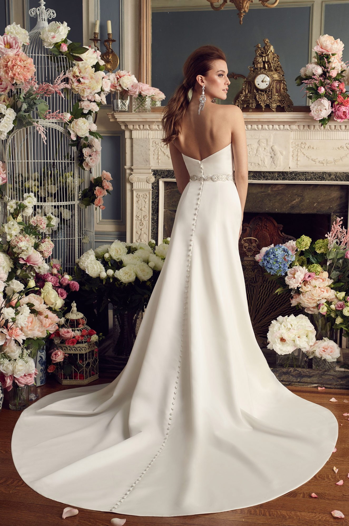 Sweetheart Satin Wedding Dress - Style #2170 | Mikaella Bridal