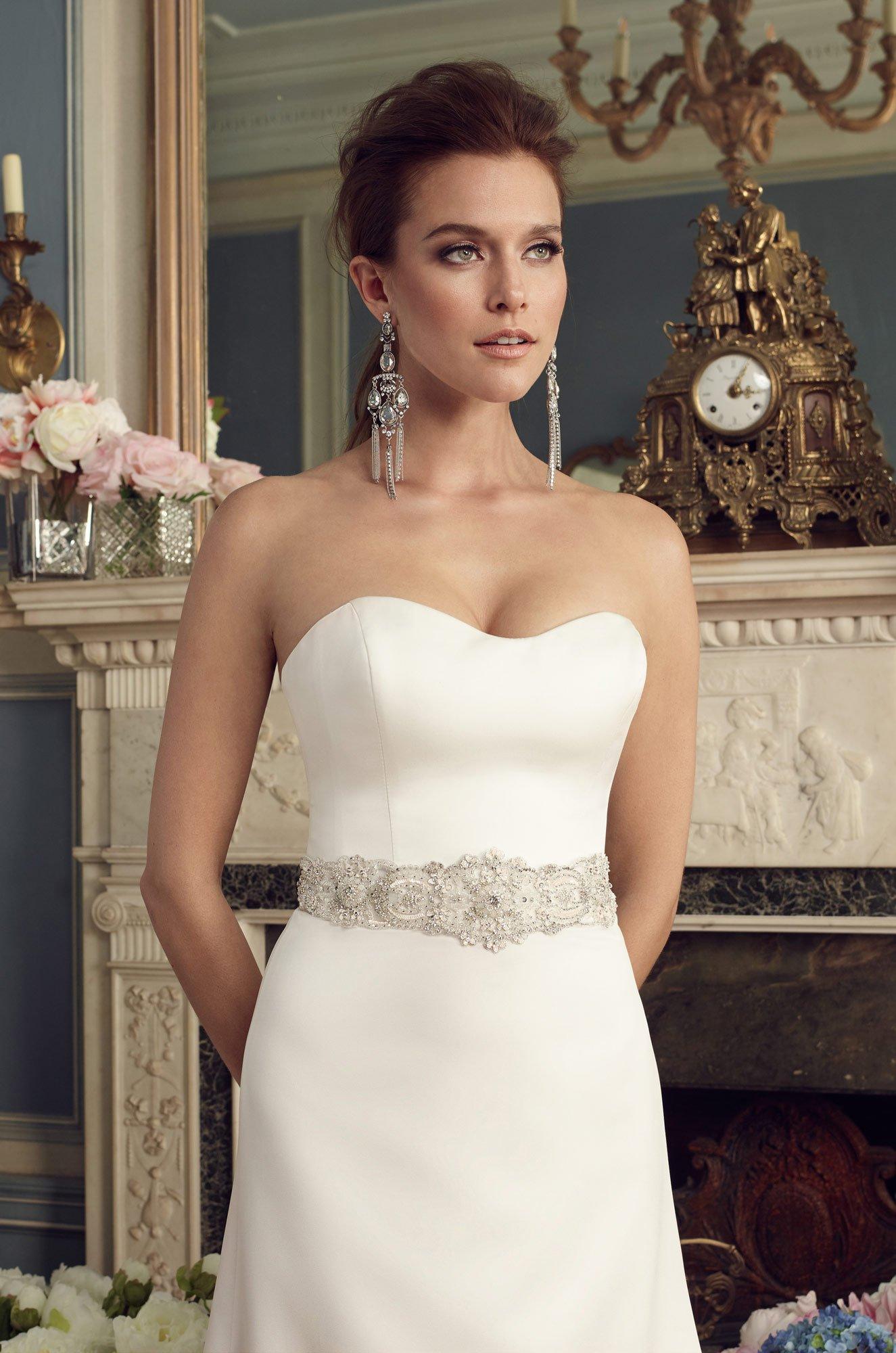 Sweetheart Satin Wedding Dress - Style #2170 | Mikaella Bridal