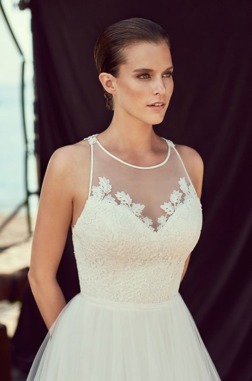 Lace Racerback Wedding Dress - Style #2187 | Mikaella Bridal