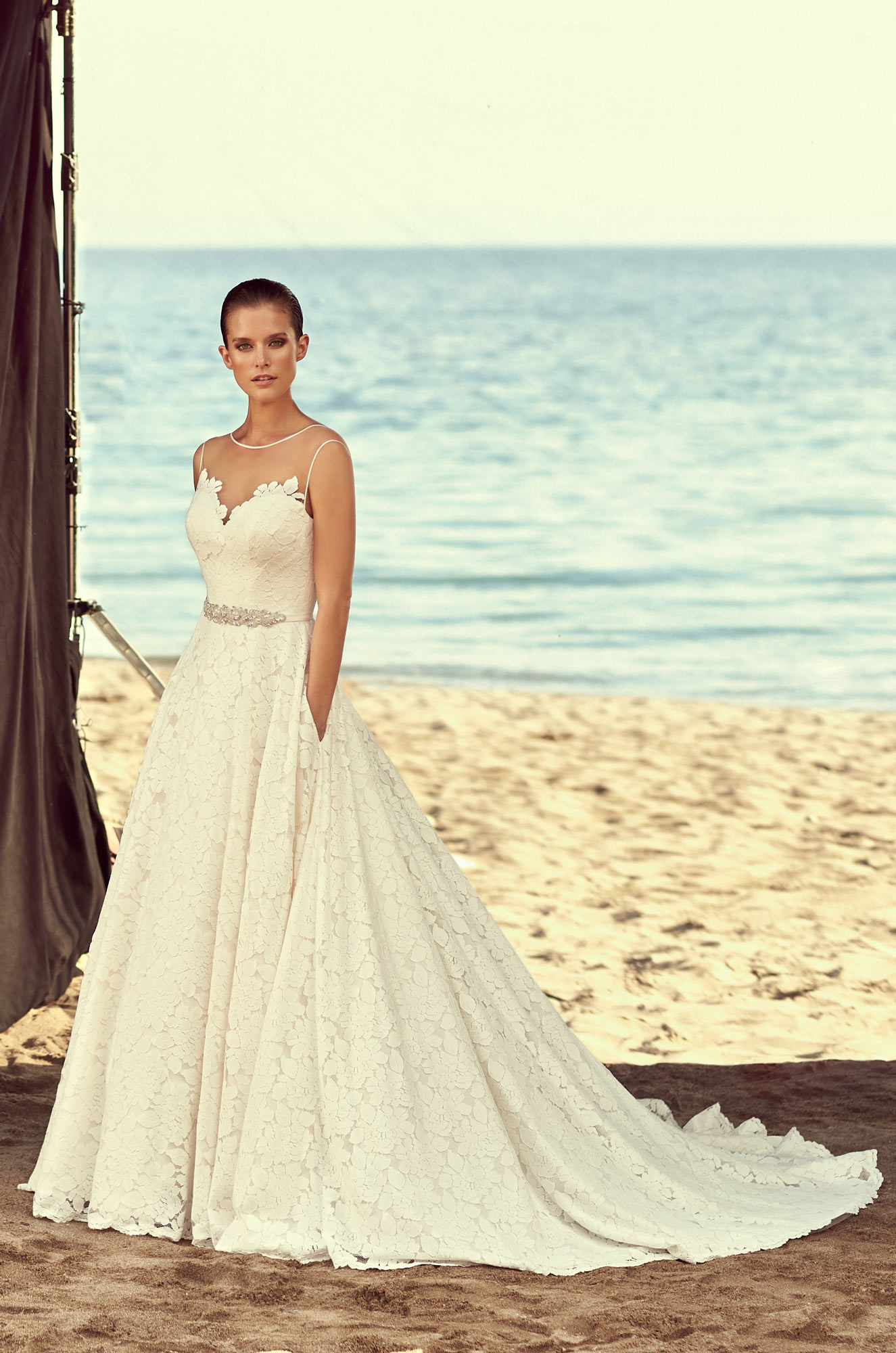 Full Lace Skirt Wedding Dress - Style #2188 | Mikaella Bridal