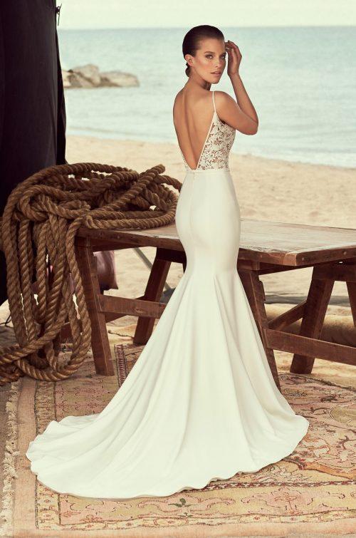 Sheer Lace Wedding Dress - Style #2190 | Mikaella Bridal