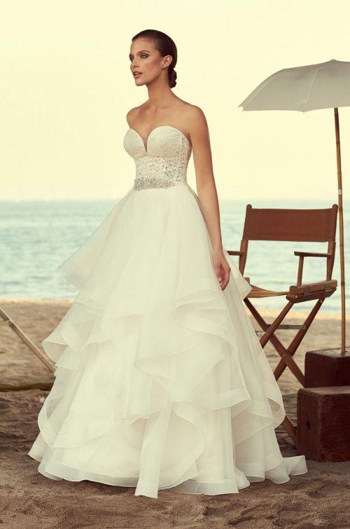 Strapless Corset Wedding Dress - Style #2192 | Mikaella Bridal