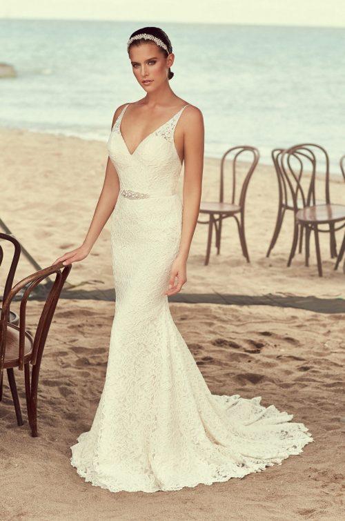 Glamorous Full Lace Wedding Dress - Style #2194   Mikaella Bridal