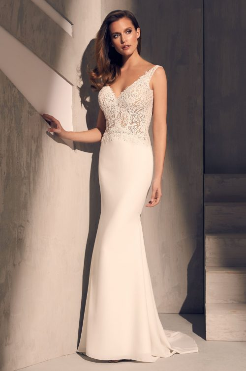 Lace Butterfly Back Wedding Dress - Style #2211 | Mikaella Bridal