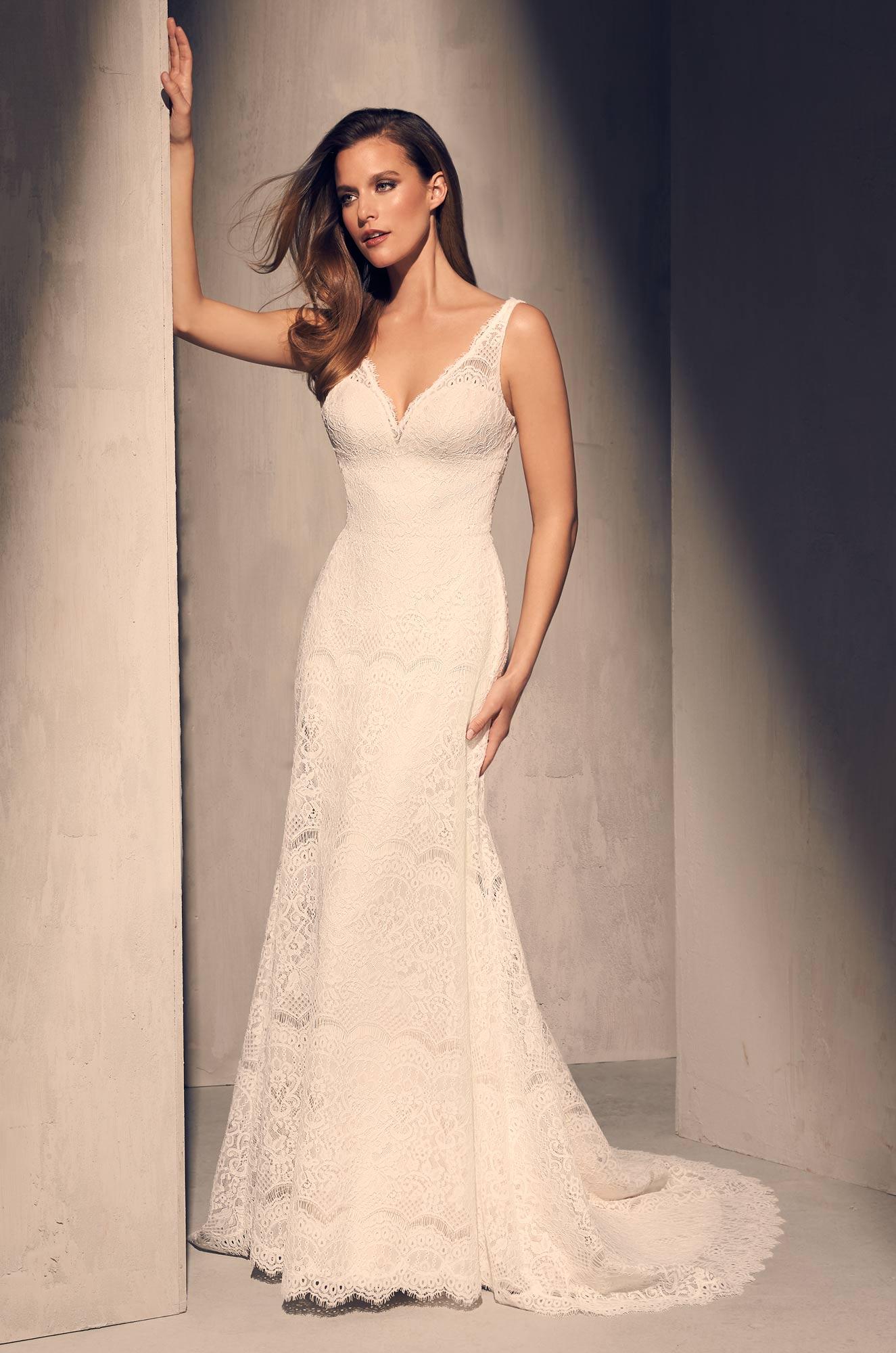 Timeless Lace Wedding Dress - Style #2217   Mikaella Bridal