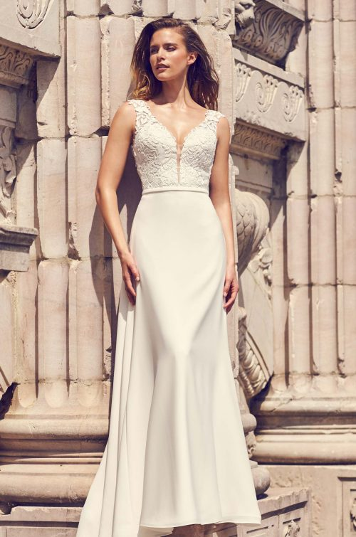 Lace Keyhole Back Wedding Dress - Style #2226   Mikaella Bridal